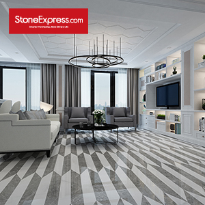 Stone Fishbone Chevron Tiles ZP-07