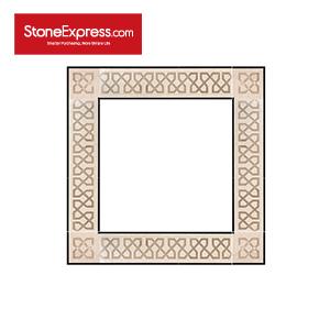 Marble Inlay Swarovski Crystal Elements Border Tiles SJDX-07