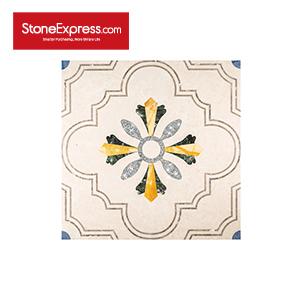 Yellow & Beige & Green Marble Crystal Design Patterns  SJMF-02