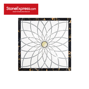 White & Gold & Black Marble Crystal Design Patterns  SJMF-03