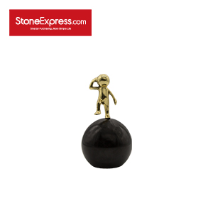 Pure Black Marble Spherical Home Decor-BJ-009