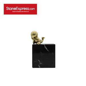 Black Marquino Marble Square Ornaments-BJ-008