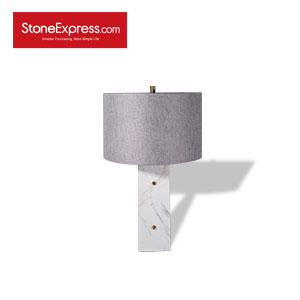 Volakas White Marble Table Lamp 06 TD-JS06-H62D37