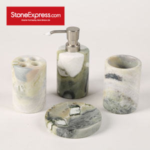 Mixed Color Green Jade Marble Bathroom Set WYZ-NHY-001