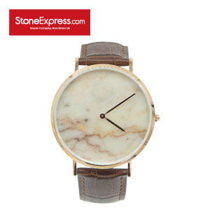Calacatta Oro Marble Luxury Watch with Genuine Leather Strap KSB-JSY-1002
