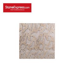 Burdur Beige CNC 3D Marble Wall Features BW-114-KB