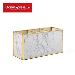Carrara White Marble Lidded Jewelry Box SSH-KLLB-010M