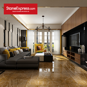 Olive Brown Marble Floor Tiles ZB-11
