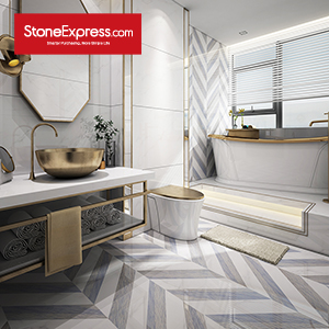 Marble Fishbone Chevron Tiles ZP-1314