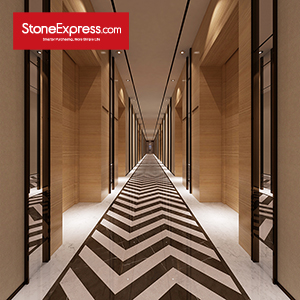 Marble Fishbone Chevron Tiles ZP-1501