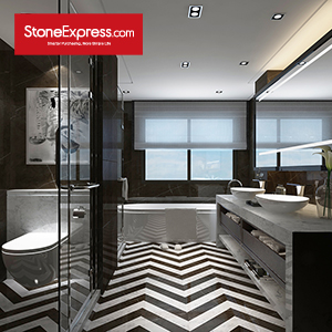 Marble Fishbone Chevron Tiles ZP-1502
