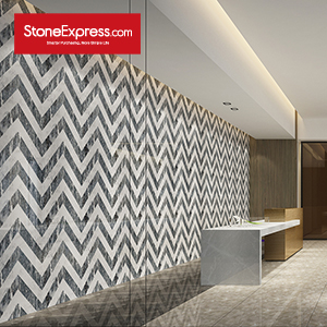 Marble Fishbone Chevron Tiles ZP-1503