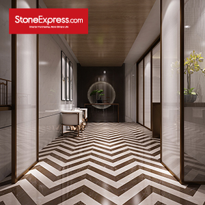 Marble Fishbone Pattern Chevron Tiles ZP-1506