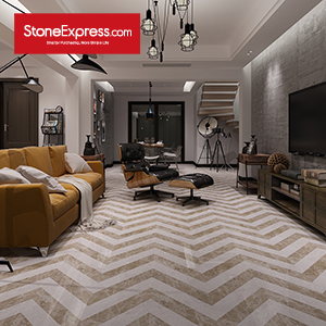 Marble Fishbone Pattern Chevron Tiles ZP-1509
