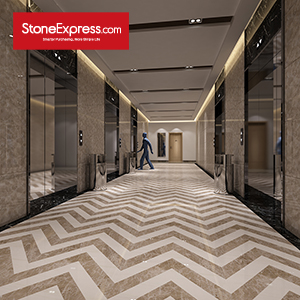 Stone Fishbone Pattern Chevron Tiles ZP-1512