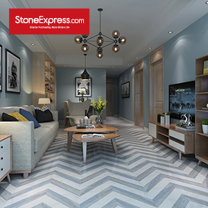 Stone Fishbone Pattern Chevron Tiles ZP-1514