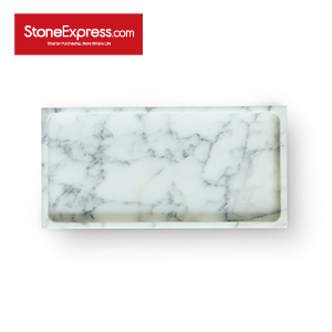 Statuario White Marble Bathroom Tray GPF-XHB-30150
