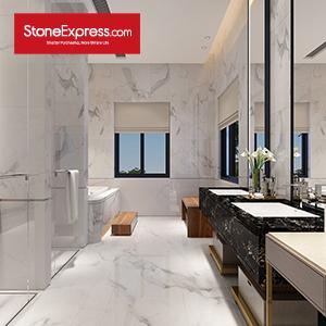 Statuario White Marble Laminate Tile  ZB-45