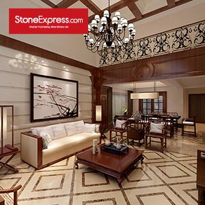 Yellow & Beige Marble Floor Tiles Design   MF-56-66