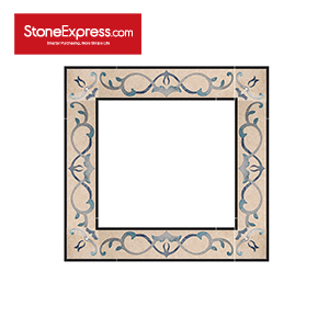 Marble Inlay Swarovski Crystal Elements Border Tiles SJDX-06