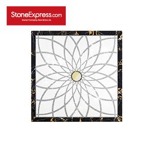 White & Gold & Black Marble Crystal Design Patterns  SJMF-03