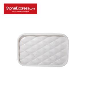 Bianco Carrara Grid Marble tray TP-KLLB-004