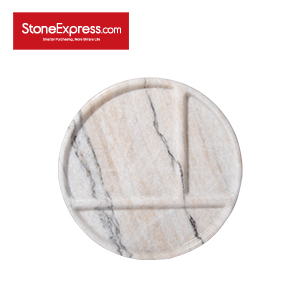 River White Marble Grid Tableware  CJ-BCB-010L