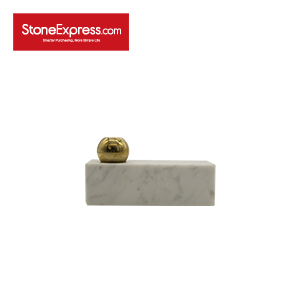 Carrara White Ball-type Marble Candle Holder-ZT-003