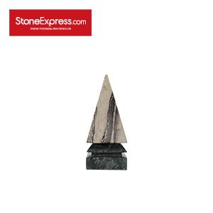 Dark Green Marble Home Decor Pyramid-JZT-001