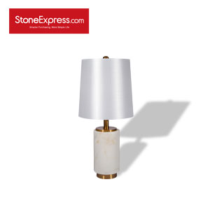 Volakas White Marble Lamp 26 TD-JS26-H58D27