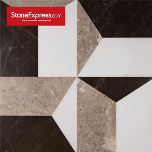 Grey & Beige & Brown Marble Floor Tiles Design  MF-77