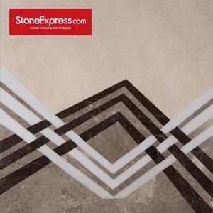 Grey & White & Brown Marble Floor Tiles Design  MF-78