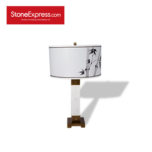 Volakas White Marble Table Lamp 03 TD-JS03-H67D40