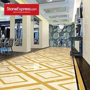 Beige & Gold  Marble Floor Tile MF23