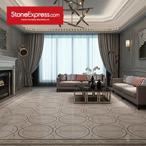 Beige & Gold & Blue Marble Design Patterns MF58