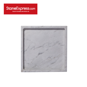 Carrara White Marble  Bathroom Tray GPF-KLLB-20200