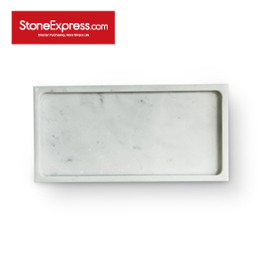 Bianco Carrara Marble  Bathroom Tray GPF-KLLB-3015