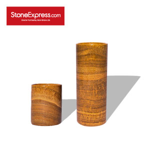 Royal Gold Wood Vein Marble Vase BZBK-HSMW-D0810