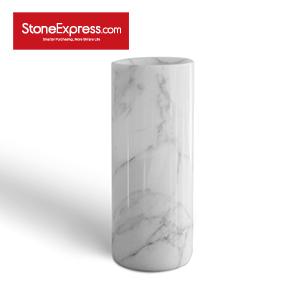 Calacatta White Marble Vase BZBK-YDB-D0820