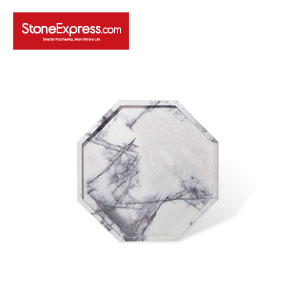 Ice Lilac Octagon Marble Tray  GPB-XXM-303003D