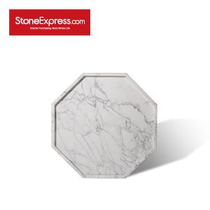 Statuario White Octagon Marble Tray GPB-XHB-303003