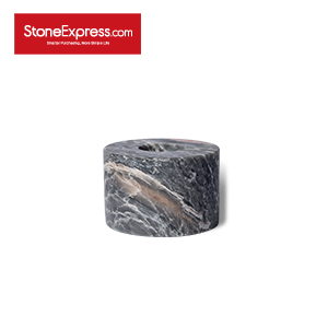 Plato Gray Marble Candle Holder ZT-SLLH-D10H06-YXPK