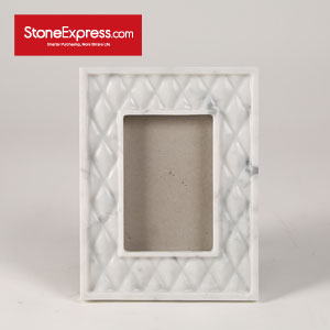 Bianco Carrara Marble Photo Frame XK-KLLB-001