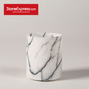 Ice Lilac Marble Vase for Flowers