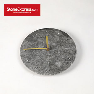 Royal Grey Marble Homeware Clock ZB-LKL-004
