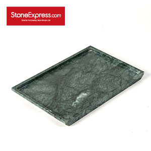 Dark Green Marble Tray