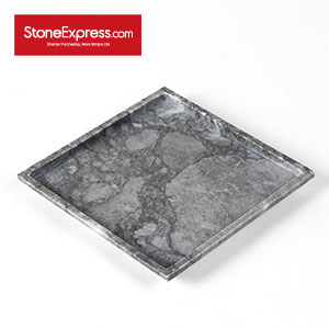 Rock Grey Marble Serving Square Tray BP-LKL-002