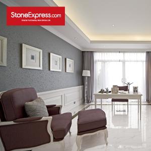 Athena White Composite Marble Tile ZB101
