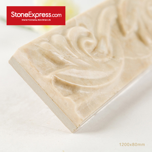Beige Marble 3D Decorative Marble Moldings