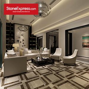 Grey & Beige & Brown Marble Design Patterns Marble Waterjet Tiles KM26-66